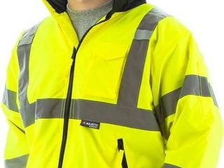 Majestic 75 1301 Hi Vis Yellow Class 3 Waterproof Bomber Jacket
