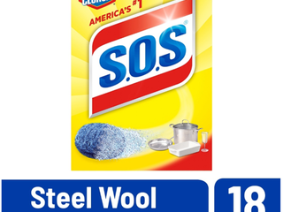 S O S Steel Wool Soap Pads 18 Ct