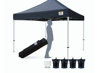 TISTENT 10 x10  Ez Pop Up Canopy Tent Commercial Instant Shelter with Heavy Duty Carrying Bag