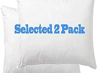 Set of 2 18x18 Down Feather Throw Pillow Inserts