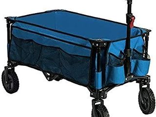 Timber Ridge Camping Wagon Folding Garden Cart Shopping Wagon Heavy Duty Collapsible Cart