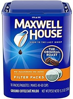Maxwell House Original Roast Ground Coffee  5 3oz Boxes  Pack Of 4