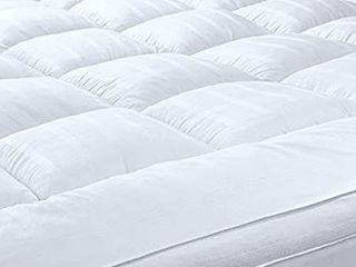 D G 3 Inch Extra Thick Mattress Topper with 100  Cotton Cover  Twin Xl Size
