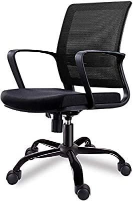 Vivo Mid Back Ergonomic Office lumbar Support Mesh Computer Desk Task Chair with Armrests