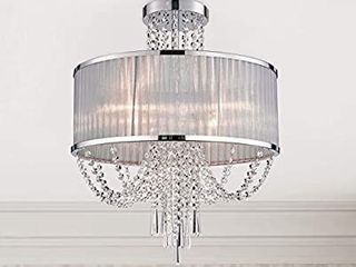 Modern Crystal Raindrop Chandelier lighting Semi Flush Mount lED Ceiling light Fixture Pendant lamp