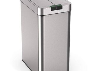 hOmelabs 21 Gallon Automatic Trash Can for Kitchen   Stainless Steel