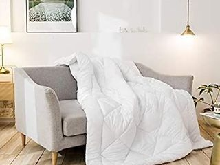 Cozynight Down Alternative Comforter White Comforter Duvet Insert with Corner Tabs Hypoallergenic