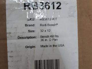 Tile Redi RB3612 KIT Redi Bench 32  Shower Seat
