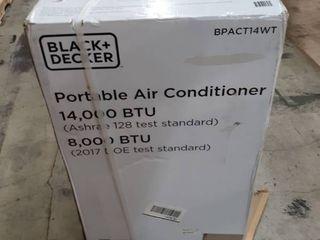 BlACK DECKER BPACT14WT 14 000 BTU Portable Air Conditioner with Remote Control