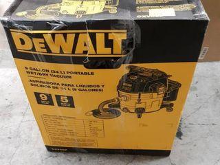 DEWAlT 9 Gal  5 Peak HP Wet Dry Vacuum  Yellows   Golds