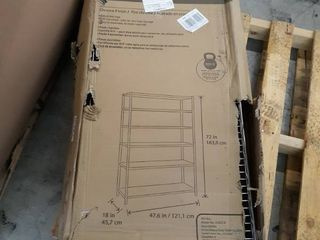 Style Selections 72 in H x 47 7 in W x 18 in D 6 Shelf Steel NSF Certified Freestanding Shelving Unit