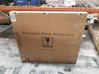 Pleasant Hearth Easton Black Fireplace Glass Firescreen Doors   Medium