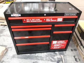 CRAFTSMAN 2000 Series 41 in W x 41 1 in H 7 Drawer Steel Rolling Tool Cabinet  Black