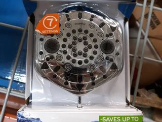 Oxygenics PowerSelect 1 75 GPM  6 6 lPM  Chrome 7 Spray WaterSense Showerhead