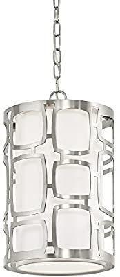 Kichler 0615991 Sabine 10 in Brushed Nickel Art Deco Pendant light
