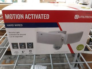 Utilitech 180 Degree 2 Head White lED Motion Activated Flood light with Timer