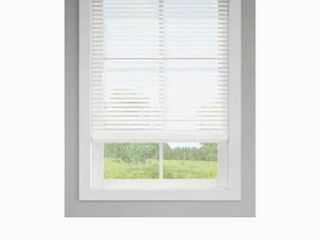levolor Trim go 2 in Cordless White Faux Wood Room Darkening Blinds
