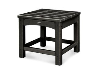 Trex Outdoor Furniture Rockport Club 18 Inch Side Table  Charcoal Black