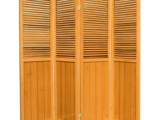 6 ft  Tall Beadboard Divider   Honey  4 Panels