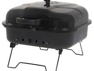 Mr  Bar B Q Portable charcoal grill 206 sq in Black Porcelain Coated Portable Charcoal Grill