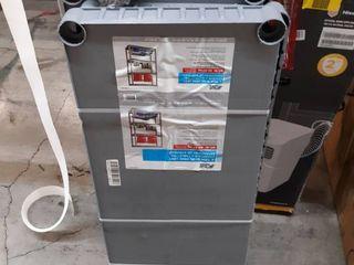 Blue Hawk 52 62 in H x 34 75 in W x 14 63 in D 4 Tier Plastic Freestanding Shelving Unit