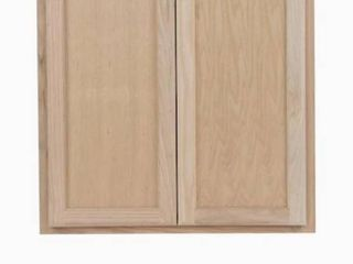 Project Source 36 in W x 30 in H x 12 in D Natural Unfinished Door Wall Stock Cabinet