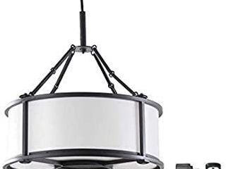 Allen   Roth Black Modern contemporary Battery operated Cage led Chandelier