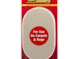 Waxman 4 Pack 9 1 2 in x 5 3 4 in Oval Reusable Plastic Carpet Slider