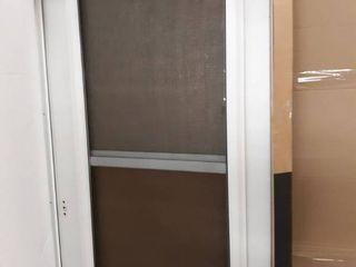 Comfort Bilt Bismarck White Mid View Tempered Glass Standard Half Screen Storm Door  Common  32 in x 81 in  Actual  33 56 in x 81 13 in