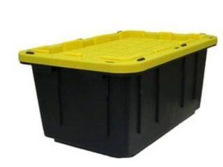 Centrex Plastics  llC Commander 17 Gallon Black Tote with Standard Snap lid