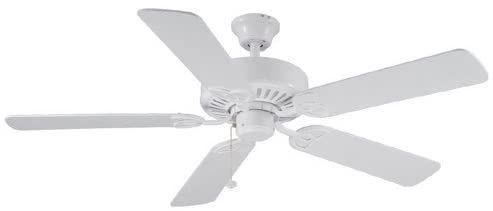 Harbor Breeze Classic 52 in Matte White Indoor Ceiling Fan  0076888 new open box