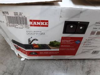 Franke Primo 33 in x 22 in Graphite 2 Composite Drop in or Undermount 4 Hole Commercial Residential Kitchen Sink