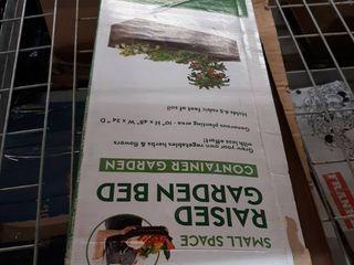 Greenes Fence Powder Coated Metal Raised Garden Bed Planter 24  W x 48  l x 10  H