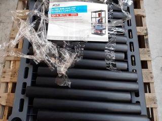 Blue Hawk 72 in H x 36 in W x 24 in D 5 Tier Plastic Freestanding Shelving Unit