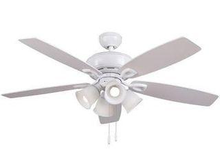 Harbor Breeze Notus 52 in White lED Indoor Ceiling Fan  5 Blade