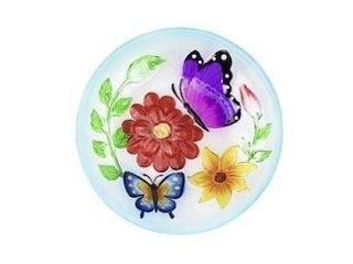 23 43 in H Multicolor Glass Complete Birdbath