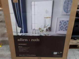 allen   roth Roveland 28 in Brushed Stainless Steel Rectangular Bathroom Mirror