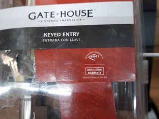 Gate House Keyed Entry Satin Nickel Finish Knob