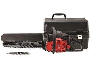 Craftsman 18a light Easy Start 2 Cycle low Vibration Gas Chainsaw With Case S180