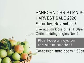 Sanborn Christian School Harvest Auction 2020