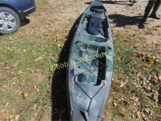 1 person fishing kayak  Trident 13  with dolly