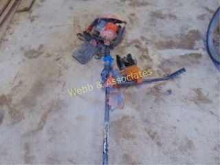 Weed eater with brush blade