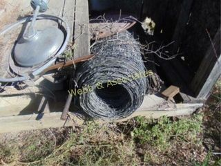 3 rolls of wire and miscellaneous stored in lean