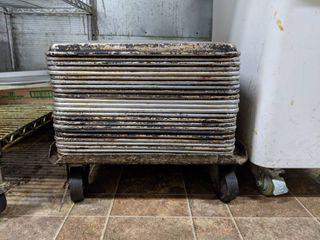 Pan Racks On Rolling Cart