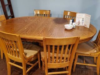 6ft Wood Dining Table With 6 Chairs