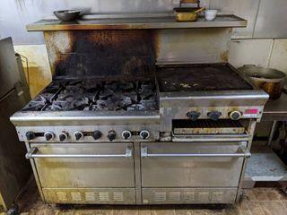 6 Range Burner Oven With Griddle
