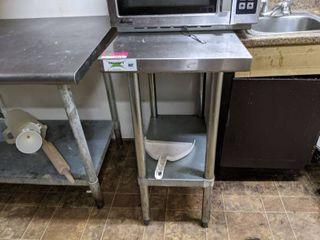 Regency Stainless Steel Prep Table