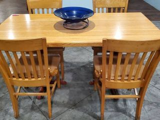 5ft Wood Dining Table With Chairs