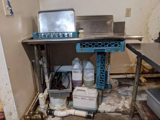 Dishwasher Side Tables left And Right  Buyer Responsible For Removal