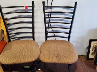 2  Metal Dining Chairs